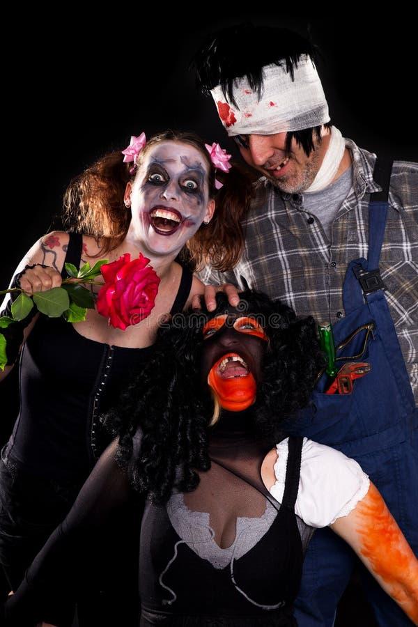 Gruppe geisteskranke Halloween-Geschöpfe lizenzfreie stockbilder