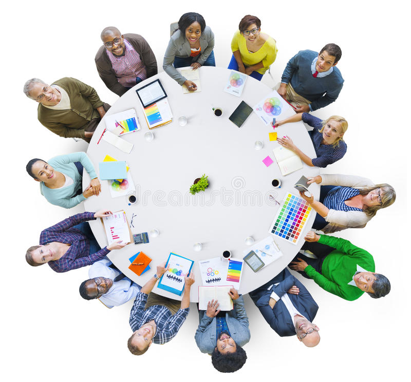 Gruppe Geschäftsleute, die zusammenarbeiten stockfotos