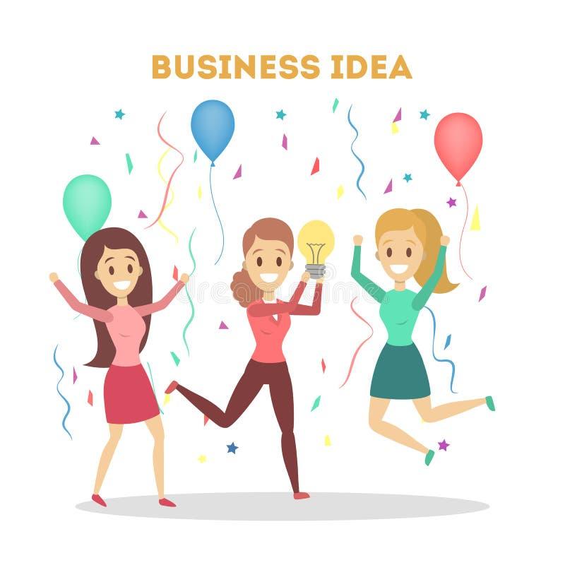Gruppe Geschäftsleute haben die Idee vektor abbildung