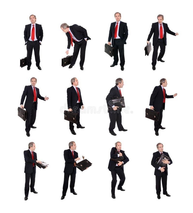 Gruppe Geschäftsmänner mit einem Aktenkoffer stockfotos