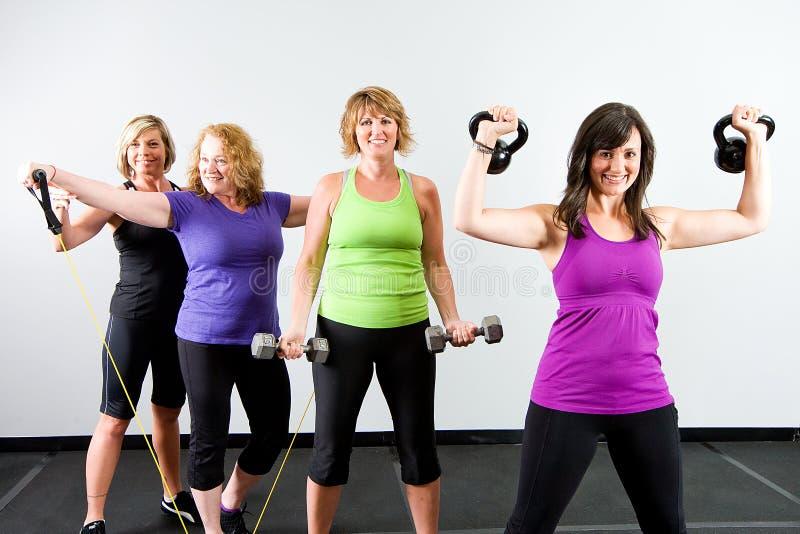 Gruppe gesunde Frauen lizenzfreies stockbild