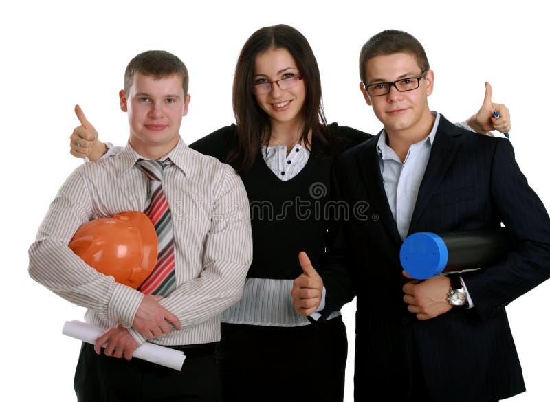 Gruppe glückliche Geschäftsleute lizenzfreie stockfotografie