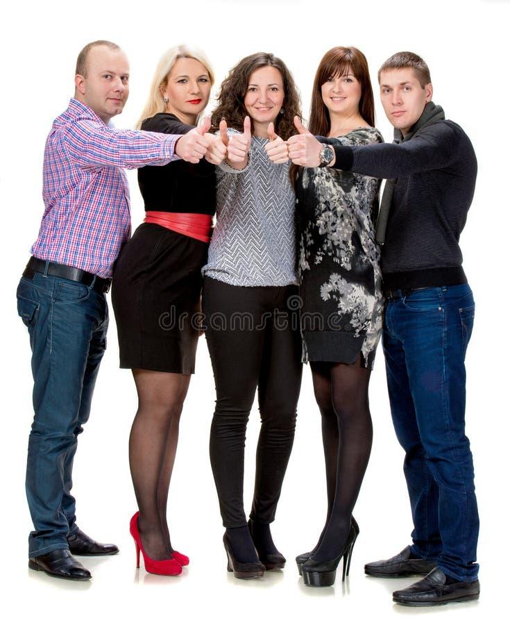 Gruppe glückliche Geschäftsleute