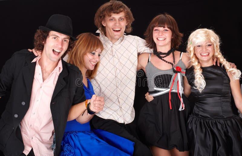 Gruppe glückliche junge Leute. lizenzfreies stockbild