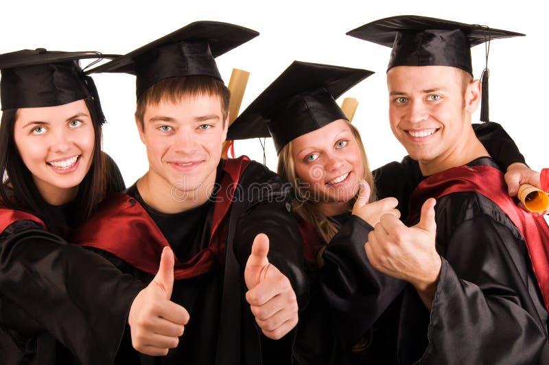 Gruppe glückliche Kursteilnehmer lizenzfreies stockfoto