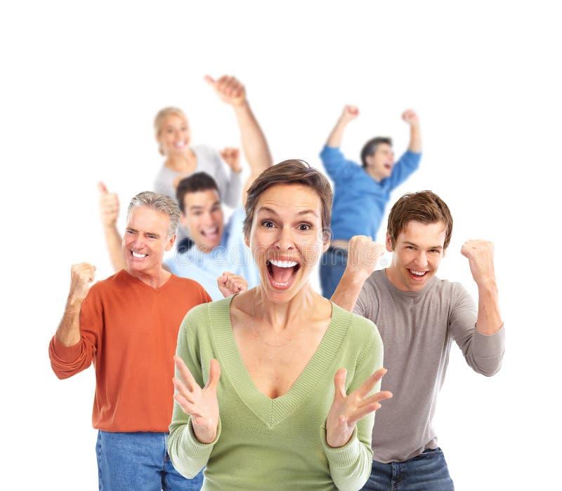 Gruppe glückliche Menschen. lizenzfreie stockfotos