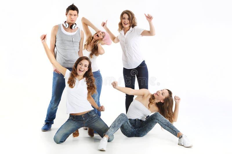 Gruppe glückliche Menschen stockfoto
