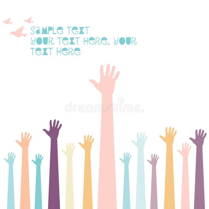 Gruppe Hände stock abbildung