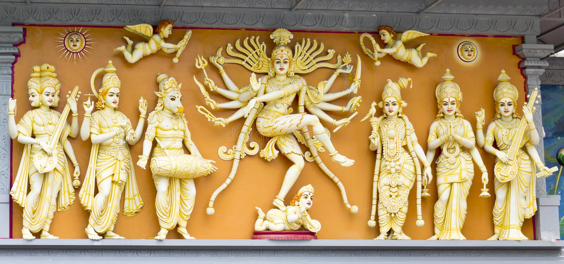 Gruppe hindische Götter lizenzfreie stockfotos