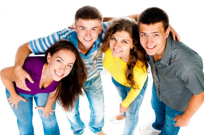 Gruppe junge Leute lizenzfreie stockfotos