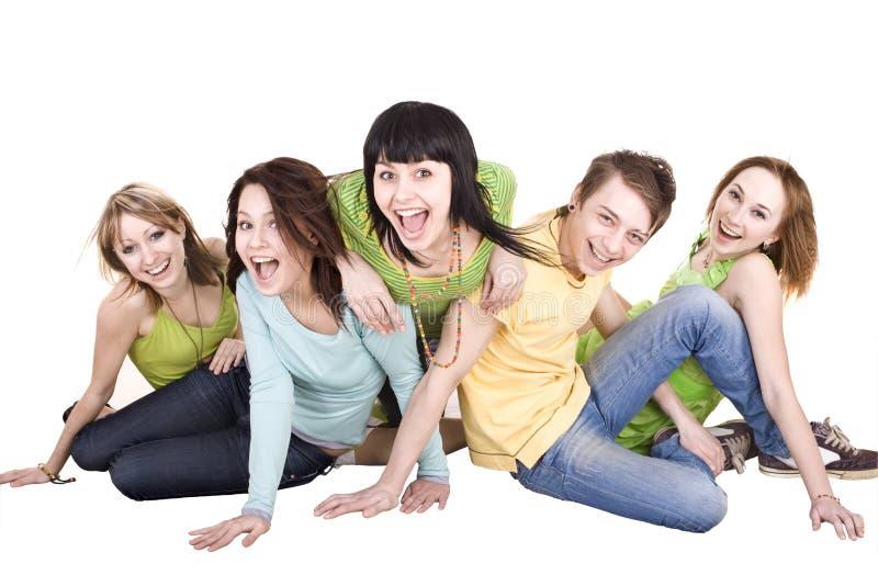 Gruppe junge Leute. Getrennt. lizenzfreie stockfotografie