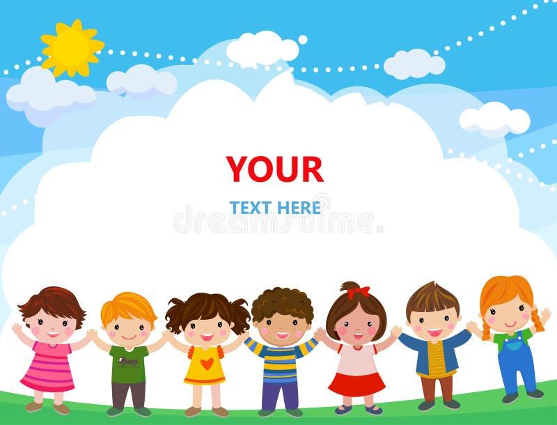 Gruppe Kinder lizenzfreie abbildung