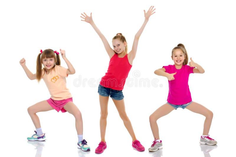 Gruppe Kinder, Daumen hochhalten lizenzfreie stockfotos