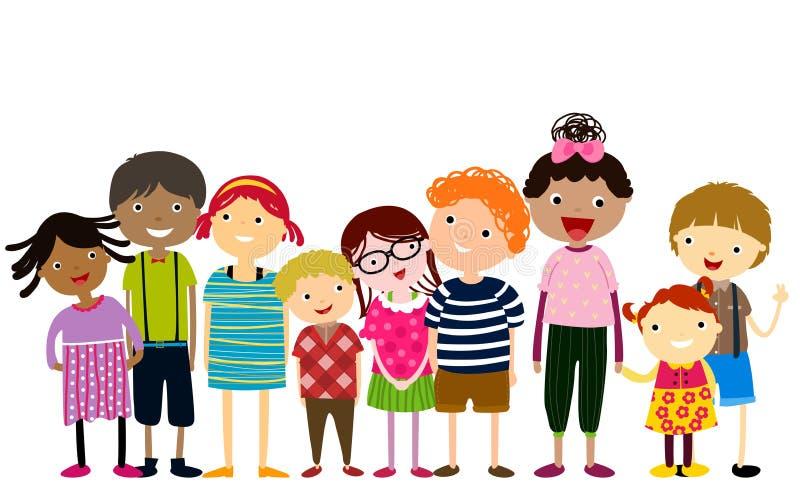 Gruppe Kinder, die Spaß haben lizenzfreie abbildung