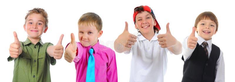Gruppe Kinderaufstellung stockbild