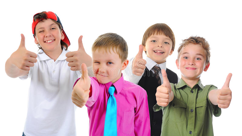 Gruppe Kinderaufstellung lizenzfreie stockbilder