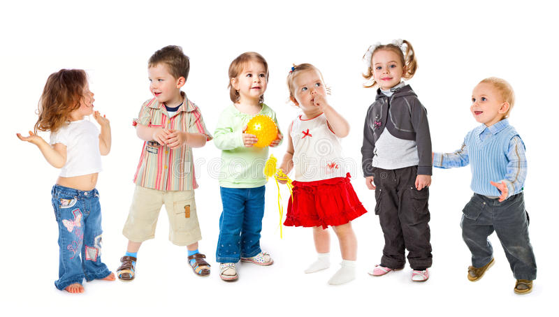 Gruppe kleine Kinder lizenzfreies stockfoto