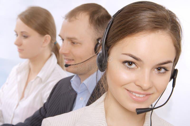Gruppe Kundendienst representativ lizenzfreies stockfoto