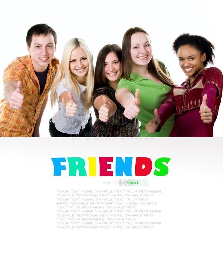 Gruppe lächelnde Kursteilnehmer lizenzfreie stockfotografie