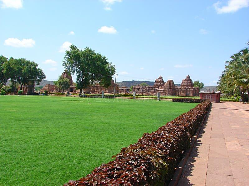 Gruppe Monumente bei Pattadakal, Karnataka, Indien lizenzfreie stockfotografie
