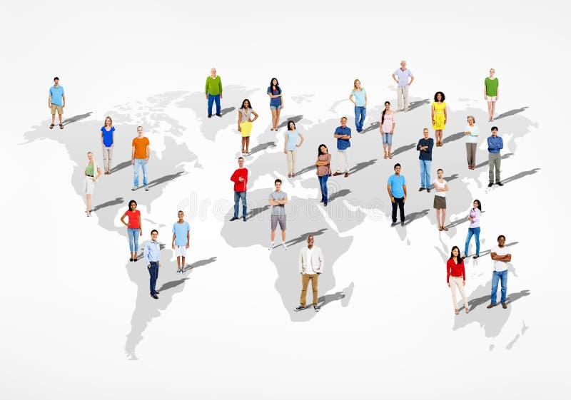 Gruppe multi ethnische verschiedene Leute der Welt stock abbildung