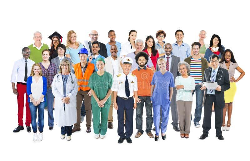 Gruppe multiethnische Mischbesetzungs-Leute stockfoto