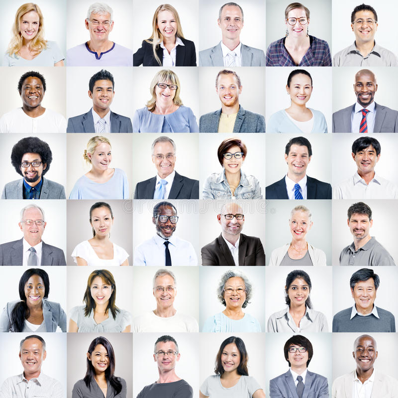 Gruppe multiethnische verschiedene Geschäftsleute stockbild