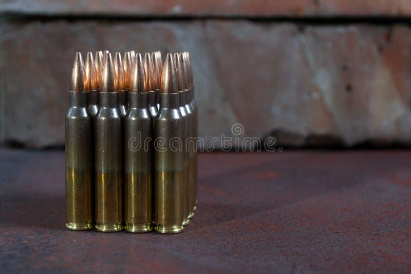 Gruppe Munition geometrisch gesetzt stockbilder