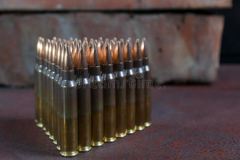Gruppe Munition geometrisch gesetzt lizenzfreie stockbilder