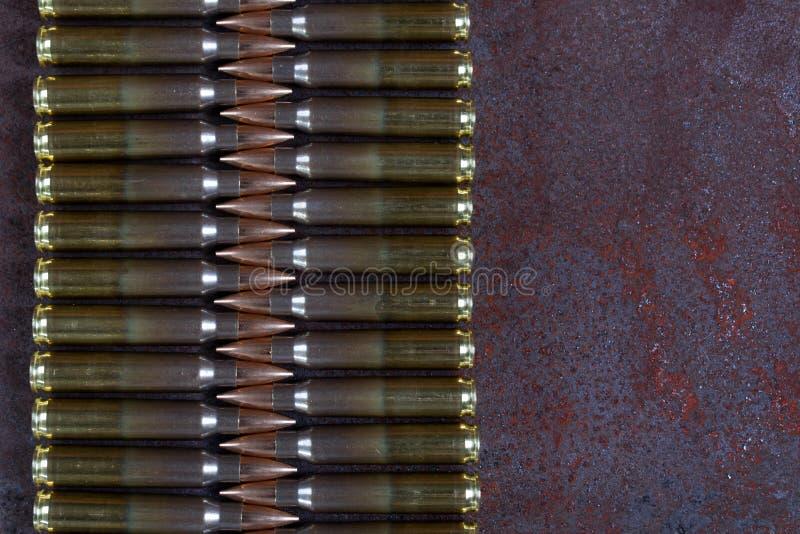 Gruppe Munition geometrisch gesetzt stockfotos