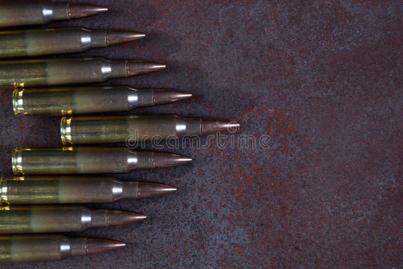 Gruppe Munition geometrisch gesetzt stockbild