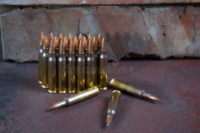 Gruppe Munition geometrisch gesetzt lizenzfreie stockfotografie