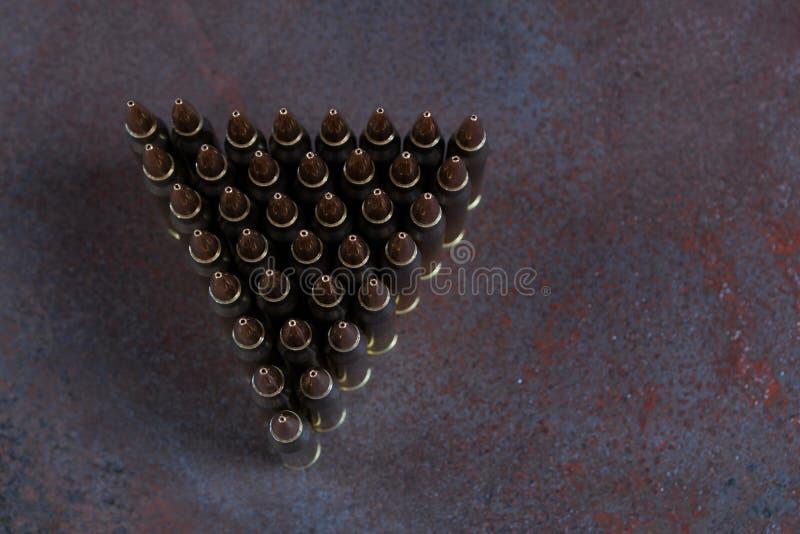 Gruppe Munition geometrisch gesetzt lizenzfreie stockfotos