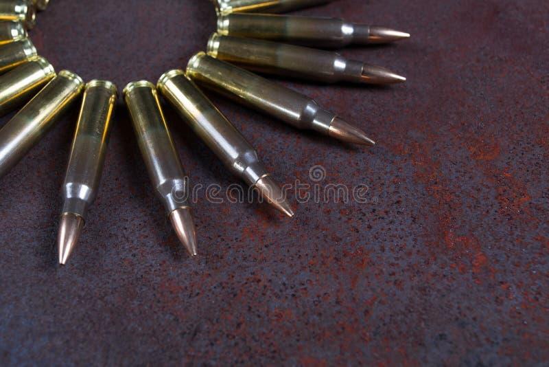Gruppe Munition geometrisch gesetzt stockfoto