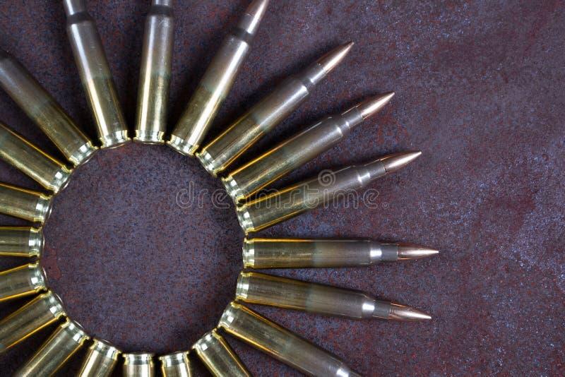 Gruppe Munition geometrisch gesetzt Munitionskreis stockfoto