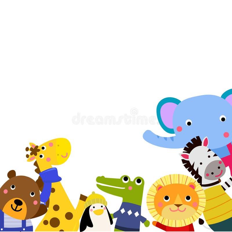 Gruppe nette Tiere vektor abbildung