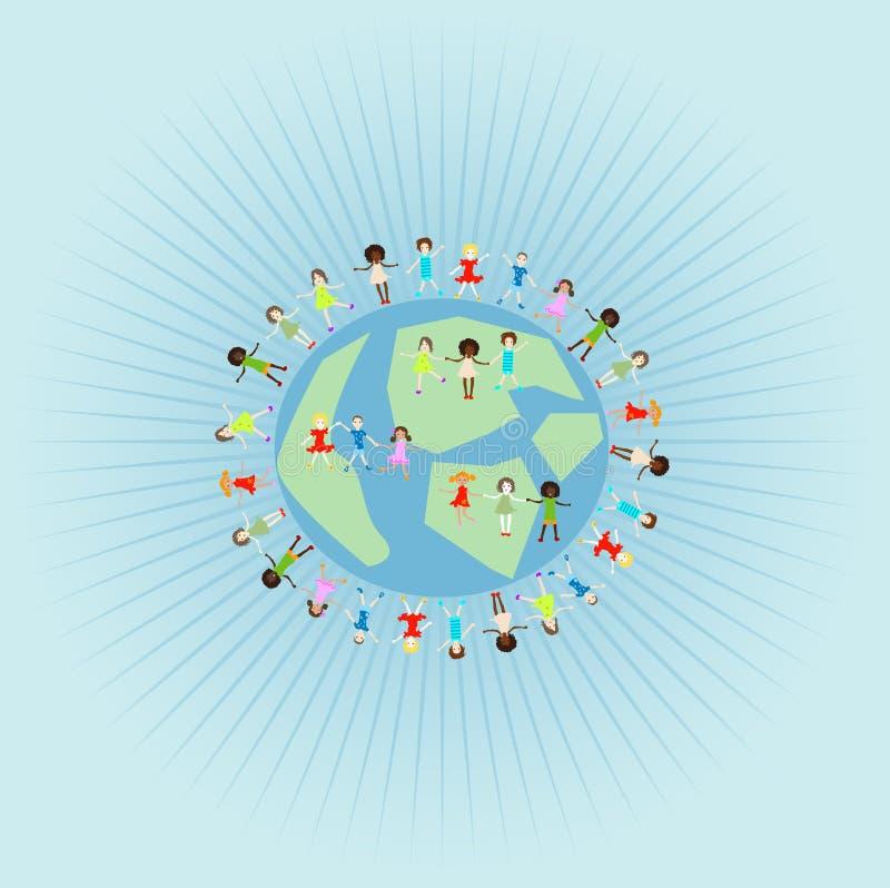 Gruppe palying Kinder lizenzfreie abbildung