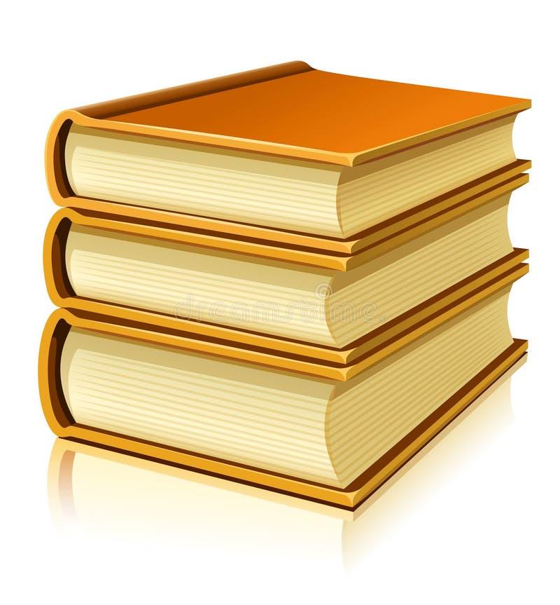 Gruppe Papierbücher mit unbelegter Abdeckung vektor abbildung