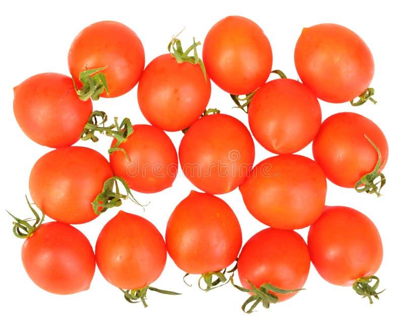 Gruppe reife rote Tomaten lizenzfreies stockfoto