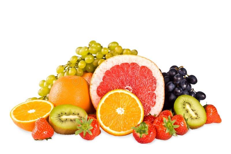 Gruppe saftige geschmackvolle Frucht lizenzfreie stockbilder