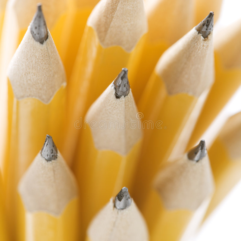 Gruppe scharfe Bleistifte. stockbilder