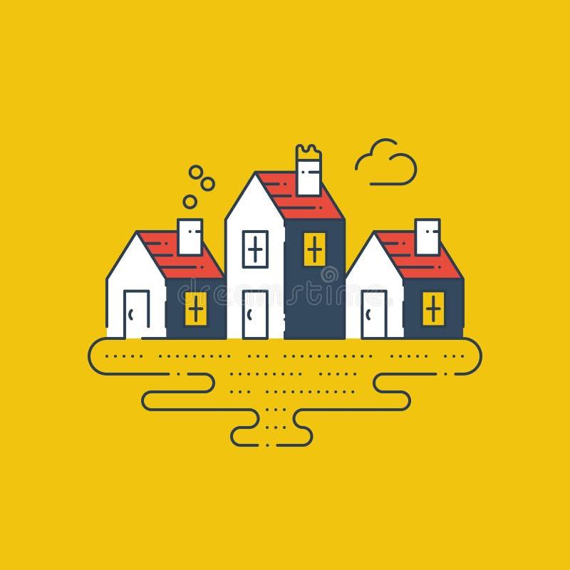 Gruppe Sommerhäuser, Immobilien vektor abbildung