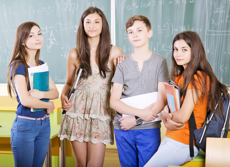 Gruppe Studenten stockfotos