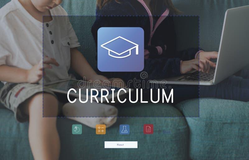 Gruppe Studenten studieren Bildungsakademikerbildungsmörser-Brettgraphik lizenzfreies stockbild