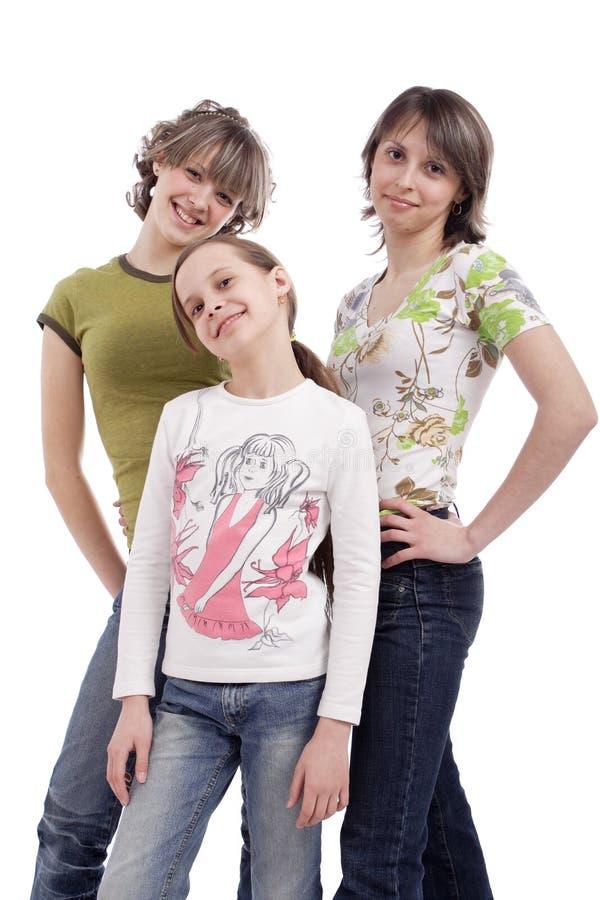 Gruppe Teenager stockbild