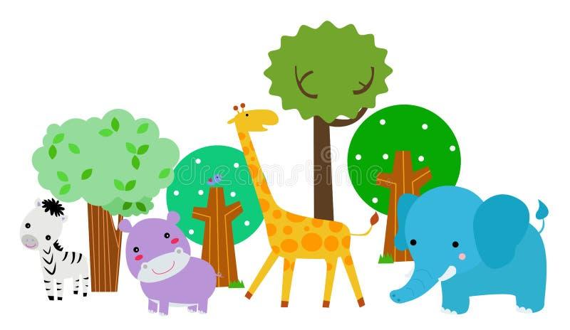 Gruppe Tiere lizenzfreie abbildung