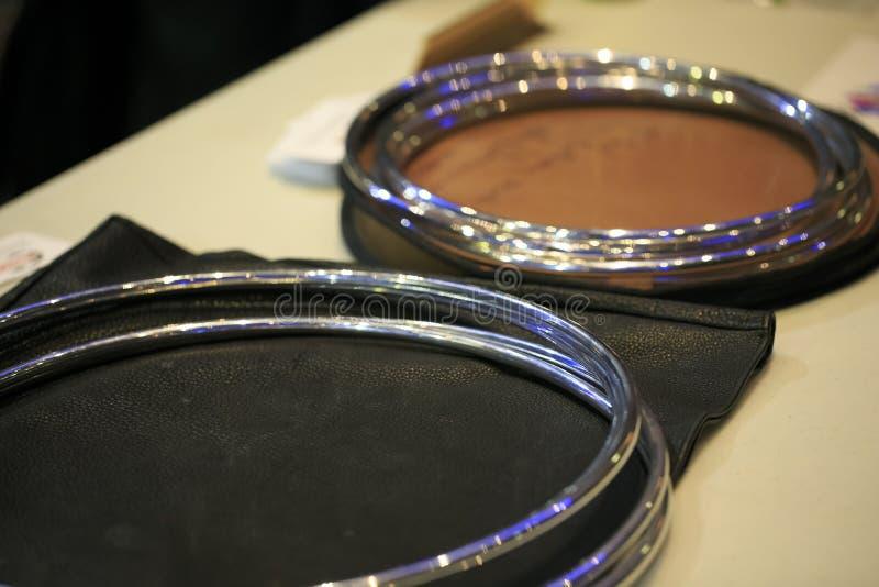 Gruppe Verbindung von magischen Ringen stockfotografie