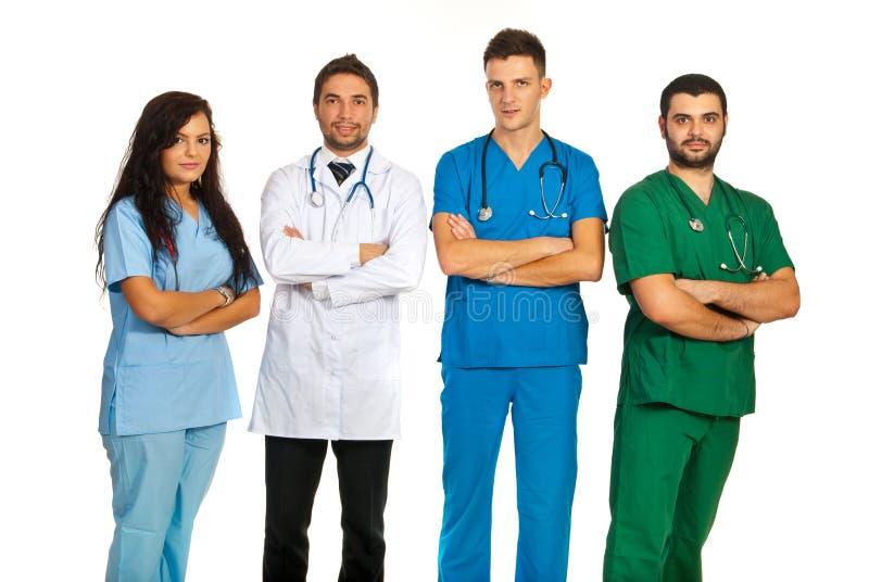 Gruppe verschiedene Doktoren stockfotografie