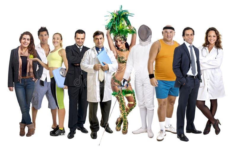 Gruppe von Personen stockfotografie