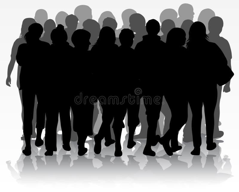 Gruppe von Personen stock abbildung